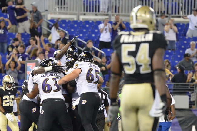 Baltimore Ravens at New Orleans Saints- 9/1/16 NFL Pick, Odds, and Prediction