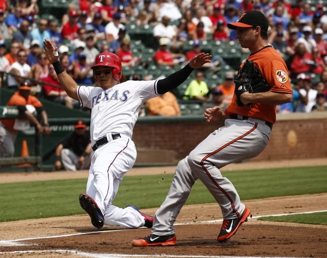 Texas Rangers vs. Baltimore Orioles - 4/14/16 MLB Pick, Odds, and Prediction