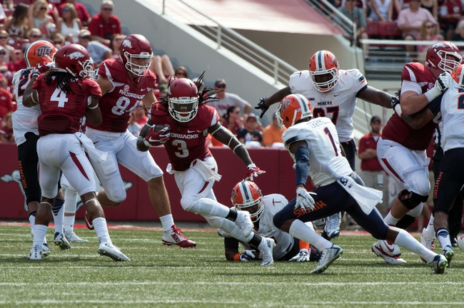 Arkansas vs. Toledo - 9/12/15 College Football Pick, Odds, and Prediction