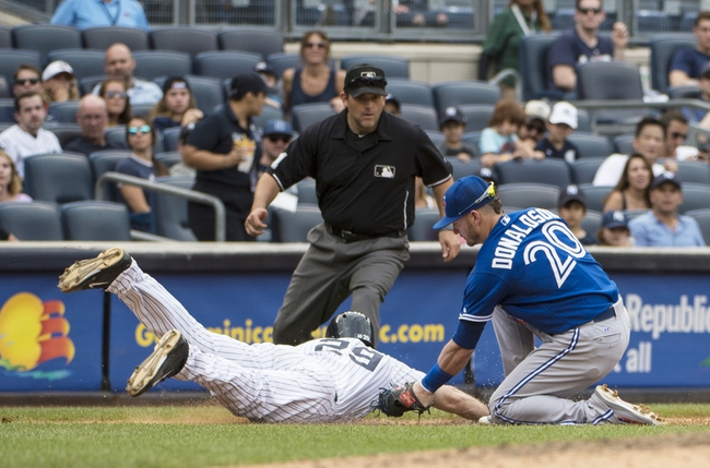 Toronto Blue Jays vs. New York Yankees - 9/21/15 MLB Pick, Odds, and Prediction
