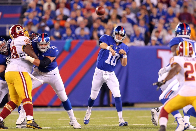 Washington Redskins at New York Giants 9/24/15 NFL Score, Recap, News and Notes