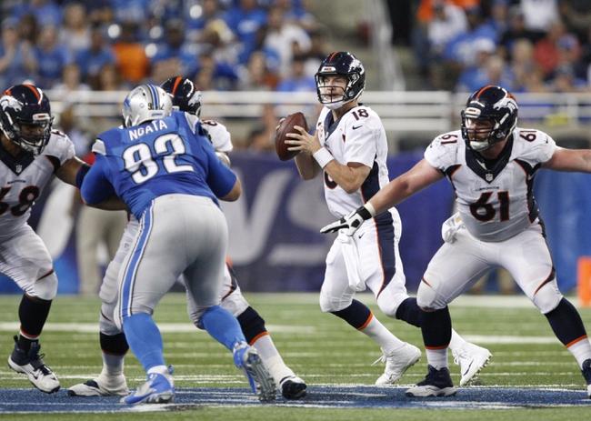 Denver Broncos at Detroit Lions 9/27/15 NFL Score, Recap, News and Notes