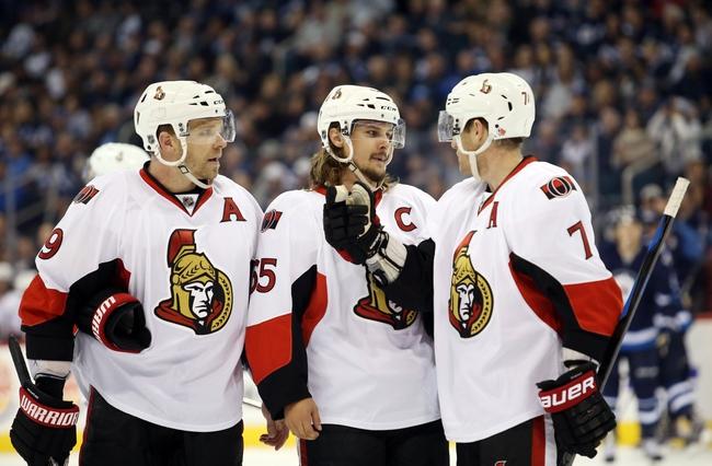 Ottawa Senators vs. Winnipeg Jets - 11/5/15 NHL Pick, Odds, and Prediction