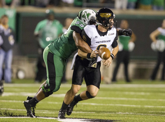 Southern Miss Golden Eagles vs. Marshall Thundering Herd - 10/29/16 College Football Pick, Odds, and Prediction