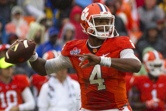 Clemson Tigers vs. Boston College Eagles - 10/17/15 College Football Pick, Odds, and Prediction