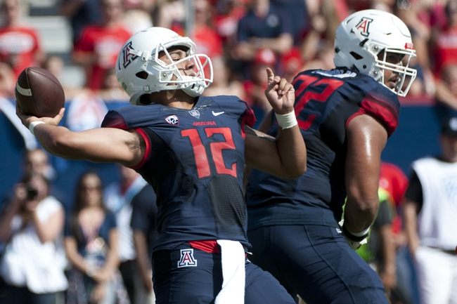 Arizona Wildcats vs. Washington State Cougars - 10/24/15 College Football Pick, Odds, and Prediction