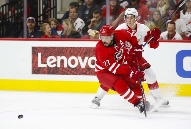 Hurricanes at Red Wings - 10/16/15 NHL Pick, Odds, and Prediction