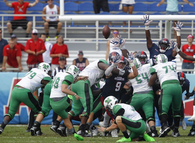 Marshall Thundering Herd vs. Florida Atlantic Owls - 10/15/16 College Football Pick, Odds, and Prediction