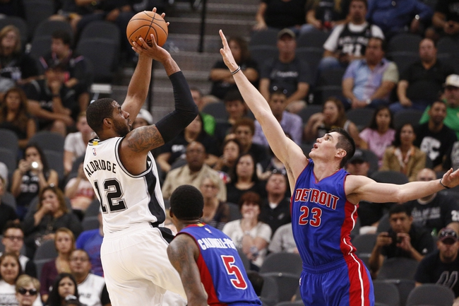 Spurs at Pistons - 1/12/16 NBA Pick, Odds, and Prediction