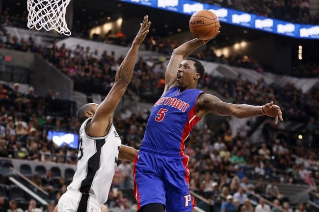 Detroit Pistons vs. San Antonio Spurs - 1/12/16 NBA Pick, Odds, and Prediction