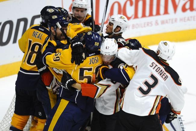 Anaheim Ducks vs. Nashville Predators - 11/1/15 NHL Pick, Odds, and Prediction