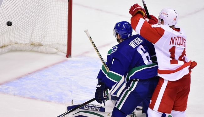Detroit Red Wings vs. Vancouver Canucks - 12/18/15 NHL Pick, Odds, and Prediction