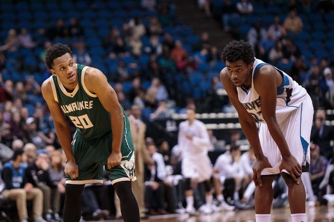 Minnesota Timberwolves vs. Milwaukee Bucks - 1/2/16 NBA Pick, Odds, and Prediction