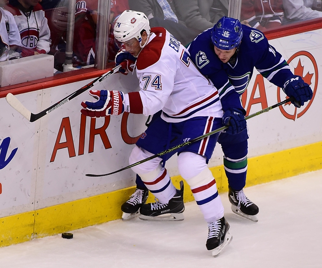 Montreal Canadiens vs. Vancouver Canucks - 11/16/15 NHL Pick, Odds, and Prediction