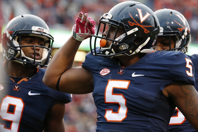 UCONN  vs. Virginia - 9/17/16 College Football Pick, Odds, and Prediction