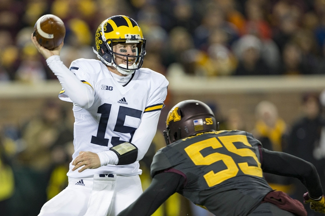 Indiana Hoosiers vs. Michigan Wolverines - 11/14/15 College Football Pick, Odds, and Prediction