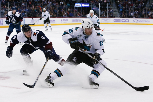 San Jose Sharks vs. Colorado Avalanche - 12/28/15 NHL Pick, Odds, and Prediction