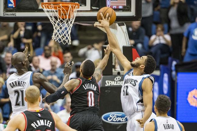 Minnesota Timberwolves vs. Portland Trail Blazers - 12/5/15 NBA Pick, Odds, and Prediction