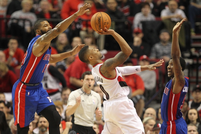 Portland Trail Blazers at Detroit Pistons  - 3/6/16 NBA Pick, Odds, and Prediction