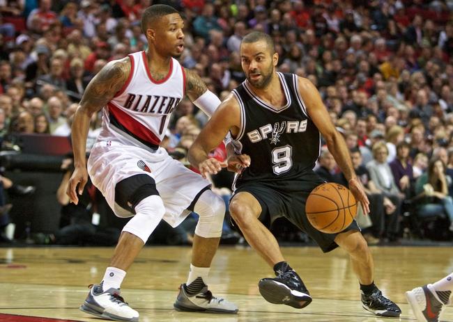 San Antonio Spurs vs. Portland Trail Blazers - 11/16/15 NBA Pick, Odds, and Prediction
