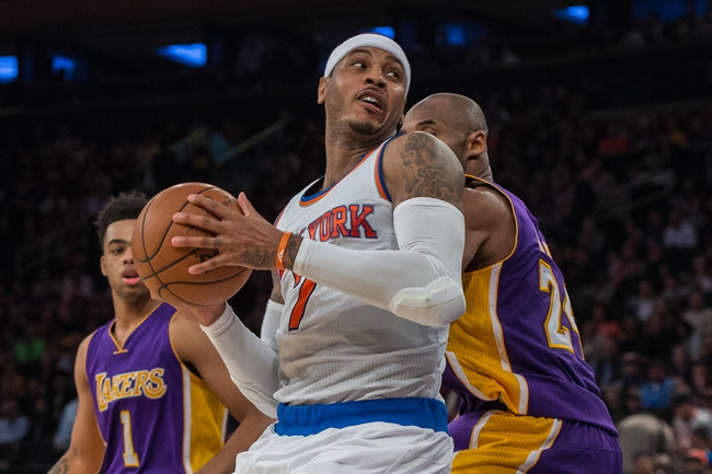 Lakers vs. Knicks - 3/13/16 NBA Pick, Odds, and Prediction