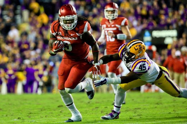 Arkansas Razorbacks vs. Mississippi State Bulldogs - 11/21/15 College Football Pick, Odds, and Prediction