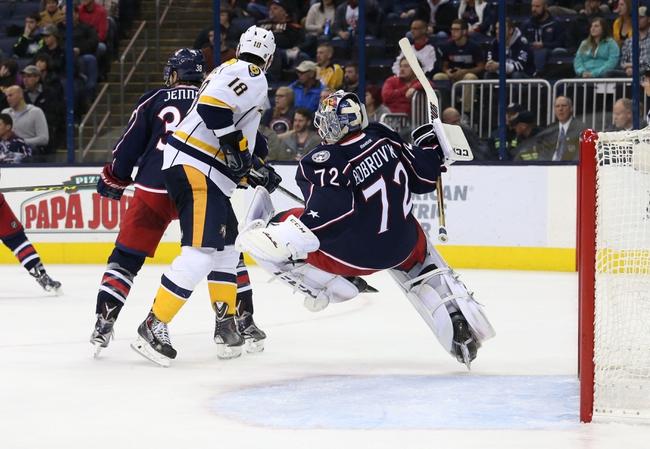 Predators vs. Blue Jackets - 3/26/16 NHL Pick, Odds, and Prediction