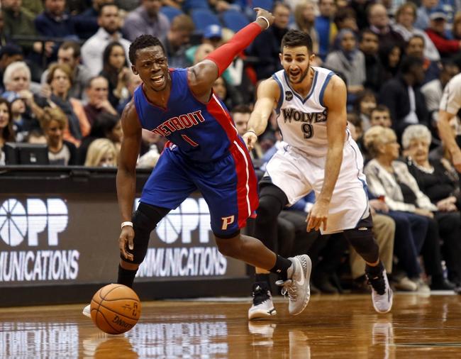 Detroit Pistons vs. Minnesota Timberwolves - 12/31/15 NBA Pick, Odds, and Prediction