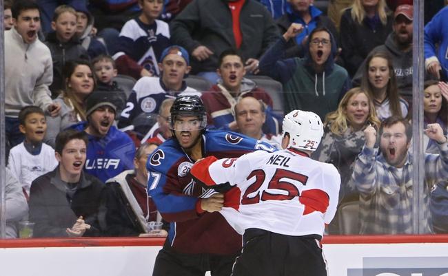 Ottawa Senators vs. Colorado Avalanche - 2/11/16 NHL Pick, Odds, and Prediction