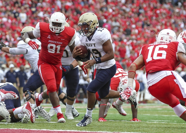 Houston Cougars at Navy Midshipmen - 10/8/16 College Football Pick, Odds, and Prediction