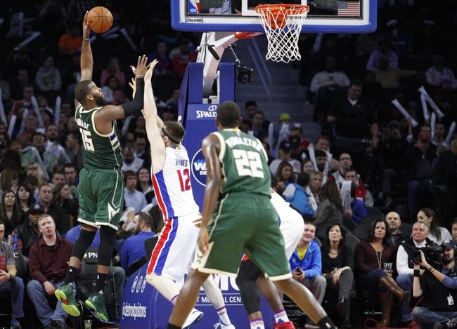 Bucks vs. Pistons - 2/27/16 NBA Pick, Odds, and Prediction