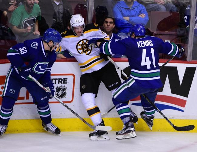 Bruins vs. Canucks - 1/21/16 NHL Pick, Odds, and Prediction