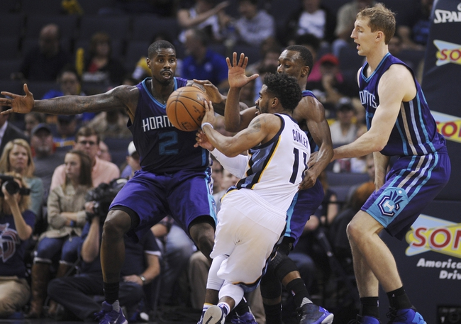 Charlotte Hornets vs. Memphis Grizzlies - 12/26/15 NBA Pick, Odds, and Prediction