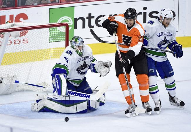 Philadelphia Flyers vs. Vancouver Canucks - 1/12/17 NHL Pick, Odds, and Prediction