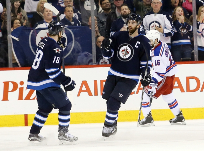 New York Rangers vs. Winnipeg Jets - 11/6/16 NHL Pick, Odds, and Prediction