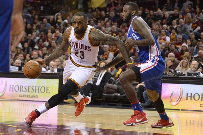 Cavaliers at 76ers - 1/10/16 NBA Pick, Odds, and Prediction