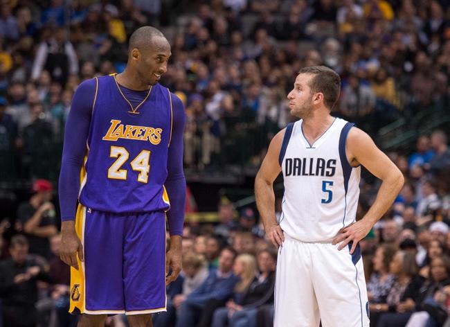 Mavericks at Lakers - 1/26/16 NBA Pick, Odds, and Prediction