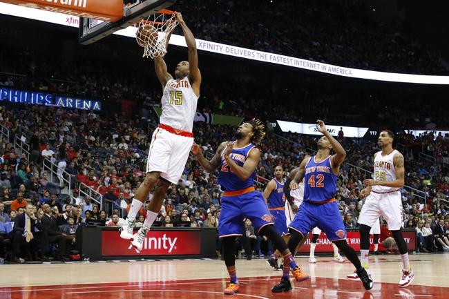 Hawks at Knicks - 1/3/16 NBA Pick, Odds, and Prediction