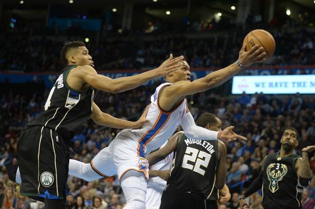 Bucks vs. Thunder - 3/6/16 NBA Pick, Odds, and Prediction