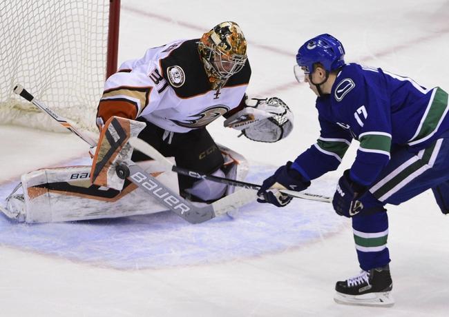 Canucks vs. Ducks - 2/18/16 NHL Pick, Odds, and Prediction