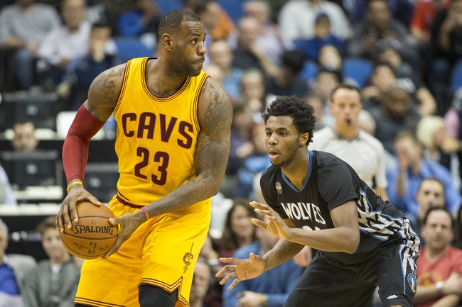 Timberwolves at Cavaliers - 1/25/16 NBA Pick, Odds, and Prediction