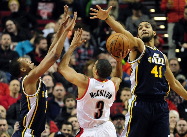 Utah Jazz at Portland Trail Blazers  - 2/21/16 NBA Pick, Odds, and Prediction