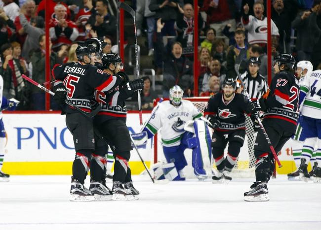 Vancouver Canucks vs. Carolina Hurricanes - 10/16/16 NHL Pick, Odds, and Prediction