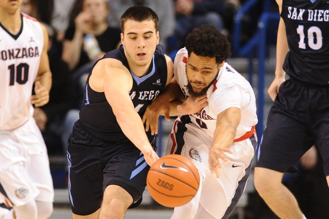 San Diego vs. Gonzaga - 2/25/16 College Basketball Pick, Odds, and Prediction