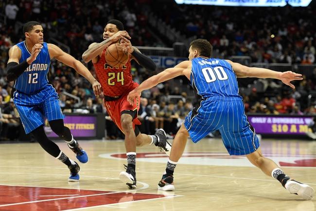Atlanta Hawks at Orlando Magic  - 2/7/16 NBA Pick, Odds, and Prediction