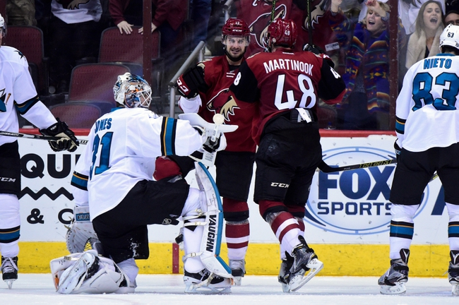 Sharks vs. Coyotes - 2/13/16 NHL Pick, Odds, and Prediction