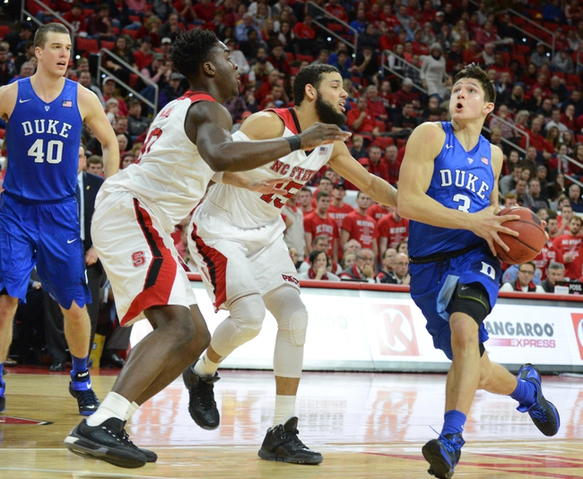 Duke vs. North Carolina State - 2/6/16 College Basketball Pick, Odds, and Prediction