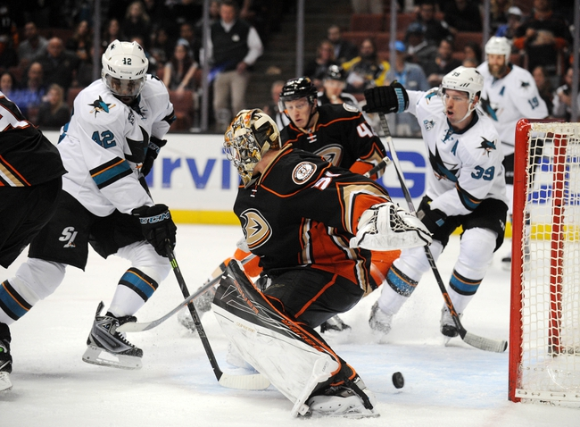 San Jose Sharks vs. Anaheim Ducks - 10/25/16 NHL Pick, Odds, and Prediction