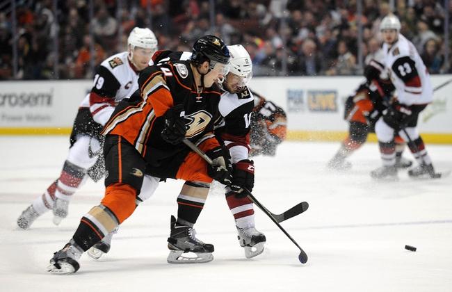 Anaheim Ducks vs. Arizona Coyotes - 11/4/16 NHL Pick, Odds, and Prediction