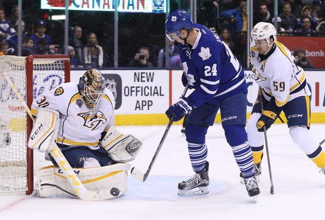 Toronto Maple Leafs vs. Nashville Predators - 11/15/16 NHL Pick, Odds, and Prediction